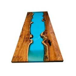 Epoxy Table Live Edge River Table Resin Epoxy Table Wooden Dining Furniture A007