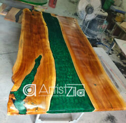 Epoxy Table Live Edge River Table Resin Epoxy Table Wooden Dining Furniture A009