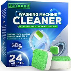 Duracare Washing Machine Cleaner, Heavy-duty Deep Clean And Deodorize 24 Tablets