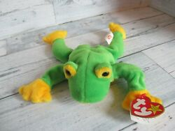 Ty Beanie Baby 1997 Smoochy The Frog - Retired Mint Condition - Stored Not Used