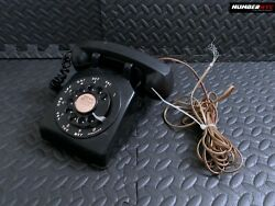 Vintage 1962 Western Electric 500 Black Rotary Dial Desk Phone Bell Systems