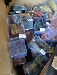 Huge Lot Of Mbr Model Train Trees Bushes Leaves And More All New In Box