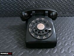 Vintage 1964 Western Electric 500 Black Rotary Dial Desk Phone Bell Systems Nyc
