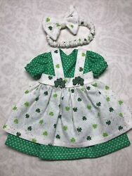 10andrdquo Outfit For Tonner Anne Estelle Sized Doll Artisan Green Shamrock Dress Y19