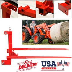 Category 1 Tractor 3 Point Attachment Trailer Hitch 2x Tow 49'' Hay Bale Spears