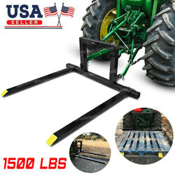 3 Point Tractor Pallet Forks Hitch Forks Category 1 Tractor Attachments 1500 Lbs