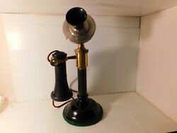 Scarce And Nice Original Antique 1901 Swedish American Tappered Shaft Candlestick