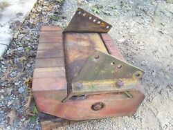Vintage Farmall International 504 Ind Tractor -8 Front Weights And Bracket