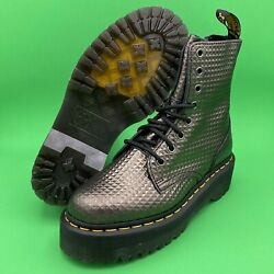Doc Martens 1460 Jadon Studded Embossed Leather Boots Mens Size 5 Womens Size 6