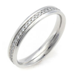 And Co. Ring White Gold Diamond Metro Full Eternity Us Size 4.5-5 Auth