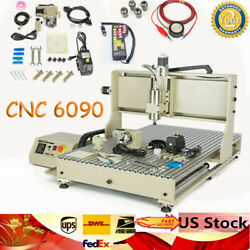 Usb 4 Axis 6090 Cnc Router Metal Engraver Vfd Milling Drilling Machine 2.2kw+rc