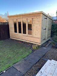 Garden Shed Super Heavy Duty Tanalised 12x8 Pent 19mm Tandg. 3x2