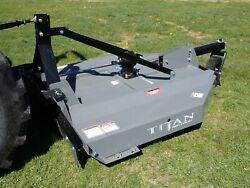 New Titan 1205b 60 Rotary Cutter For Compact Tractors 1.5 Capacity Fits Many