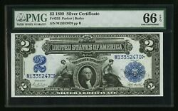 1899 2 Silver Certificate Pmg 66 Epq Pcgs Ppq Fr 255 Incredible Note