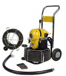 Steel Dragon Toolsandreg K1500a Drain Cleaner Cleaning Machine 120and039 C11 Snake Cable
