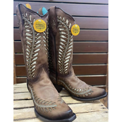 Corral Womenand039s Gold Sequin Inlay Snip Toe Cowgirl Boots