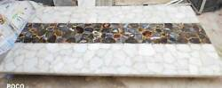 3and039x2and039 Dining Coffee Center Marble Table Top Inlay Agate Decor Room Antique K8