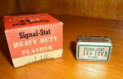 Nos Vintage Signal-stat 143 - 3 Lamp Flasher 12v 1950and039s 1960and039s Cars Trucks