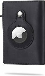 Airtag Wallet Genuine Leather Credit Card Money Holder Airtag Cover Air Tag Case