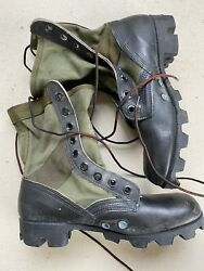 Vintage Vietnam R-search Jungle Boots 7r Spike Protective Andldquonewandrdquo Old Stock