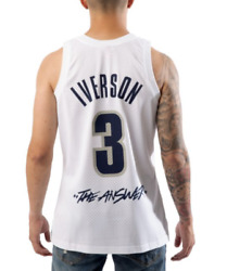 Mitchell And Ness Georgetown Iverson The Answer Swingman College Voult Jersey
