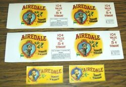 325+ Airedale Dog Always A Winner Embossed Cigar Box And Can Labels Largest 18