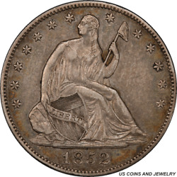 1852-o Liberty Seated Half Dollar Pcgs Xf40 Low Mintage 0f Only 144000
