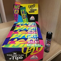 Gizeh King Size Slim Limited Edition 26 X + Tips Je 34 Blandaumlttchen + Clipper