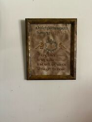 Primitive/colonial Hand Stitched Mary Allen 1807 Sampler Stitchery