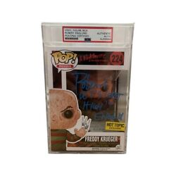 Robert Englund Signed Psa Dna Funko Pop Rare Syringe Hot Topic Exclusive Freddy