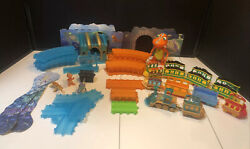 Huge Dinosaur Train Toy Lot Engine Track Figures Collect And Connect Train Cars