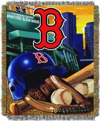 Boston Red Sox Home Field Advantage 48 X 60 Woven Tapestry Throw
