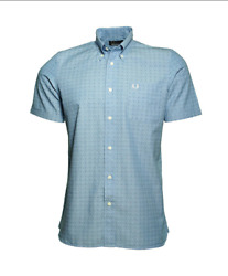 Fred Perry Men#x27;s Double Dot S S Shirt $50.00