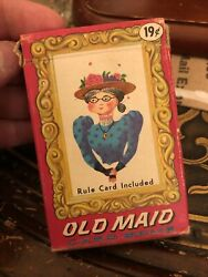 Vintage Kids Playing Cards Old Maid,