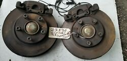 Bmw E36 Z3 E30 5 Lug Swap Front Brakes Calipers Spindles Knuckles Hubs 328 323