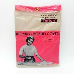 Vintage 1962 Ironing Board Cover Nos Teflon Lady Presco New Old Stock Super Glid