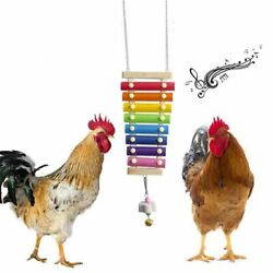 Suspensible Wood Xylophone Toys Chicken Coop Pecking Toys With Grinding Stone