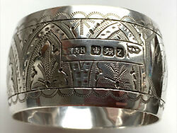 Excellent Sterling Silver Napkin Ring Sheffield 1892 Walker And Hall