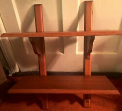 Vintage Hand Crafted Solid Maple Wood Wall Shelving Unit-4 Pcs-euc