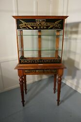 Victorian Sign Painted Stationers Cupboard Shop Display