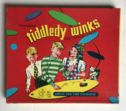 Vintage 1955 Transogram Tiddledy Winks And Other Games 23