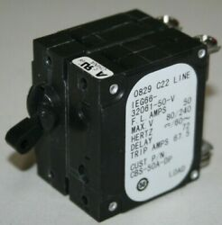 Airpax 50 Amp Double Pole Circuit Breaker - Ieg66-32061-50-v