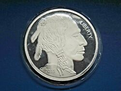 2015 Liberty Mint Buffalo-indian Head 5oz Silver 999 Fine Round Sealed Package