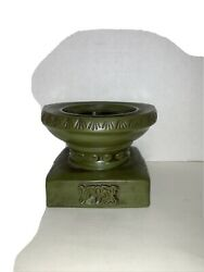 Ardco Dallas Green Stoneware Ceramic 4quot; Tall Candle Stand Made in Japan