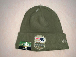 New England Patriots Winter Knit Hat Beanie Salute To Service New Era Mint And New