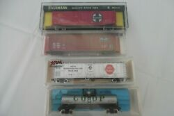 Atlas N 50' Reefer Swift, Atlas Tank Coop, Bachmann Sf And Roundhouse Slsf Boxcars