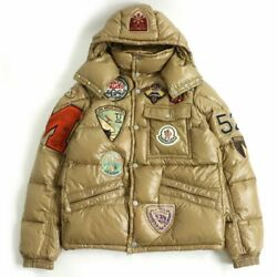 Secondhand Moncler K2 Special Big Patches Hooded Down Jacket Beige Made In