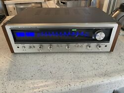 Vintage Pioneer Sx-636 Am/fm Stereo Receiver Radio With Custom Cabinet Fast Ship