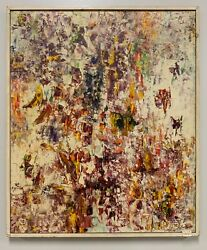 Vintage Abstract Expressionist Signed Painting - Ex. Christies 1981