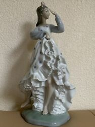 """Nao Daisa By Lladro Hand Made In Spain Dancing Woman Figurine 14 1/2"""" Tall"""